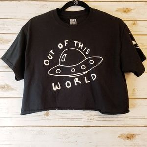 CCO! Hype Means Nothing UFO Crop Tee Medium